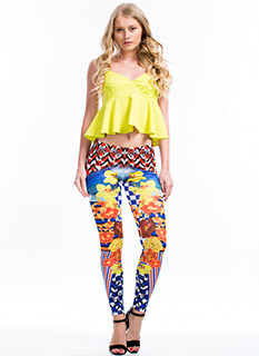 Check Out These Mixed Print Leggings