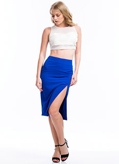 Slit Right In Pencil Skirt