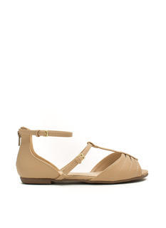 Tee Time Strappy Cut-Out Sandals