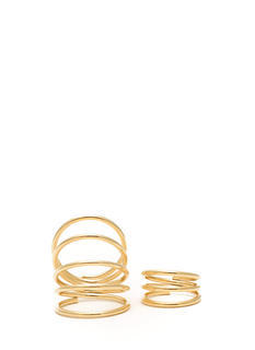 Metallic Coiled Ring Set