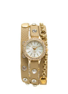 Bejeweled Wraparound Watch