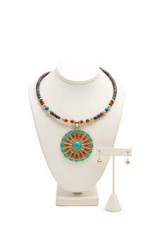 Tribal Medallion Choker Set