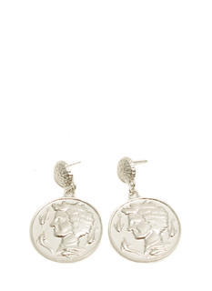 Textured Coin Medallion Earrings