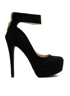 Just Cuff Me Faux Suede Platforms