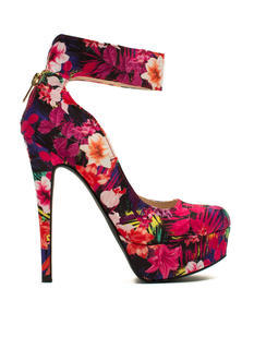Just Cuff Me Tropical Print Platforms
