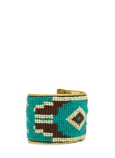 Tribal-Inspired Tapestry Beaded Cuff