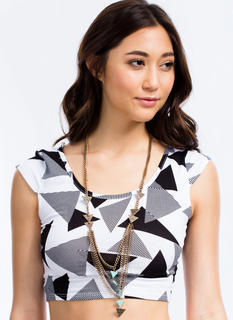 Layered Tribal Stones Necklace