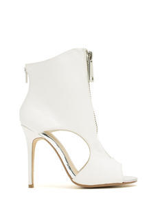 Get A Zip Faux Leather Booties