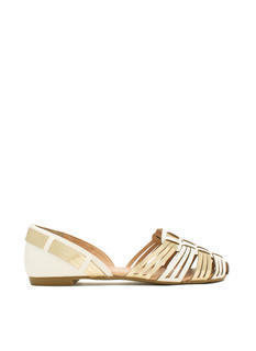 Better With Cage Faux Leather Flats