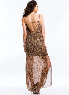 Get Spotted Strappy Leopard Maxi