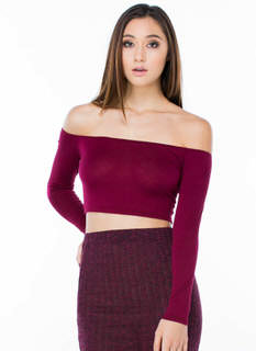 Shrug It Off-Shoulder Cropped Top