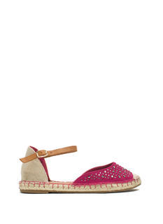 Hey Stud Strappy Espadrille Flats
