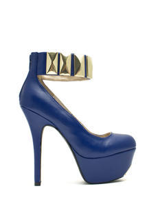 Tile Me About It Ankle Cuff Platforms