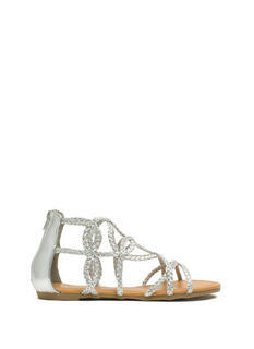 Loop-The-Loop Metallic Braided Sandals