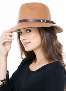 Ring Buckled Wool Fedora