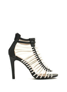 Crisscrossed Strappy Caged Heels
