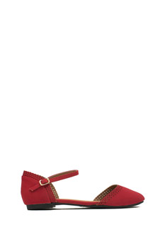All Eyelets On You Ankle Strap Flats
