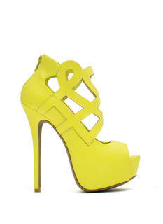 Lattice Tell You A Story Cut-Out Heels