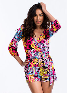 So Groovy Psychedelic Romper