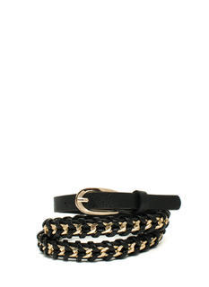 Interwoven Chain Faux Leather Belt