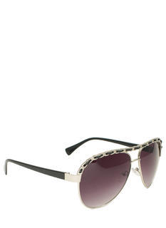Chain Trimmed Aviator Sunglasses