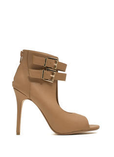 Double Buckle Cut-Out Heels