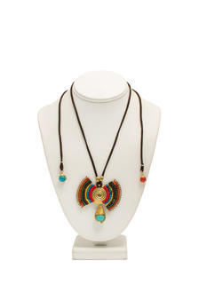 Back Detail Layered Tribal Necklace