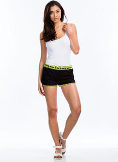 Tribe To Be Active Neon Trim Shorts