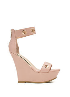 Single-Strap Grommet Wedges
