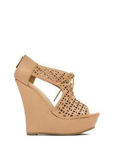 Lace You Up Laser Cut-Out Wedges