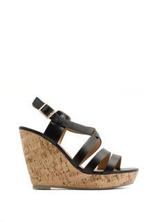 What's Strappening Cork Wedges