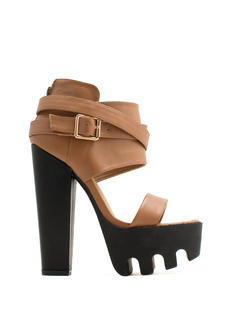 Rugged 'N Chic Single-Strap Heels