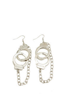 Chained Handcuff Earrings