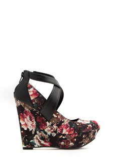 Crisscrossed Platform Wedges