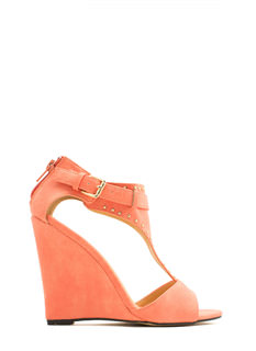 On The Dotted Line Studded Wedges