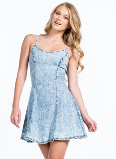 Sweet Tart Acid Wash Skater Dress