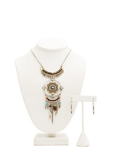 Tribal Nomad Medallion Necklace Set