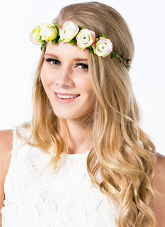 Row Of Roses Braided Hemp Headband