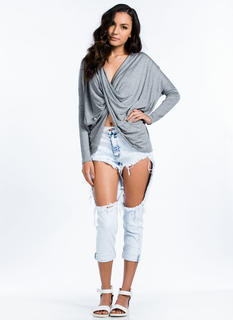 Thigh Cut-Out Boyfriend Jeans