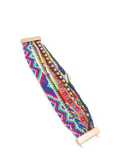 Multi-Strand Tribal Tapestry Bracelet