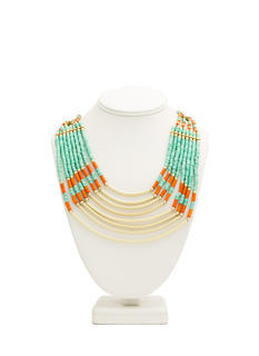 Layered Beads 'N Bars Necklace
