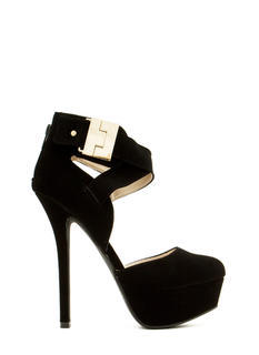Locked And Loaded Ankle Strap Heels
